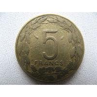 Центральная Африка 5 франков 1980 г.