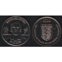 Official England Squad. Striker. Michael Owen -- 2004 England - The Official England Squad Medal Collection (f01)