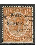 Ямайка. Военно-налоговая марка. 1916г. Mi#71.