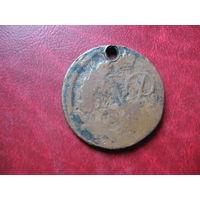 2 копейки 1758 год Российская Империя (Елизавета Петровна)