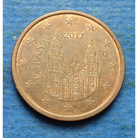 Испания 5 евроцентов 2017