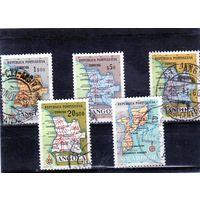 Ангола.Ми-392,395,397,399.Мозамбик.Карты Анголы и Мозамбика.1955.