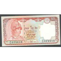 Непал 20 рупий 2002 г. P47a. UNC