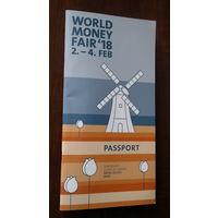 """""""Паспорт"""" нумизматической выставки World Money Fair в Берлине 2-4 февраля 2018 года (с 30-ю монетами внутри)"""
