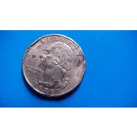 США 25 центов 1998г D. #1 распродажа