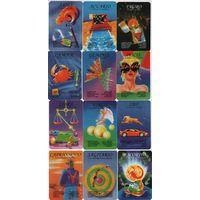 Карманные календарики Испании, гороскоп,12,2009
