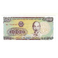 Вьетнам. 1000 донгов 1988 г. С 1 рубля !