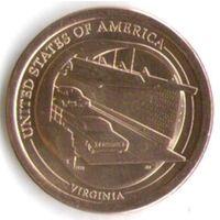 1 доллар США 2021 год Мост-тоннель через Чесапикский залив серия Американские инновации