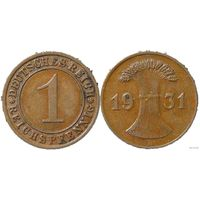 YS: Германия, 1 рейхспфенниг 1931D, KM# 37 (1)