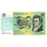 Австралия, 2 доллара (1966-1985 г.г.), XF
