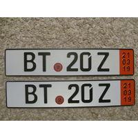 Автомобильный номер Германия BT20Z