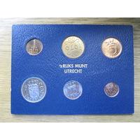 Нидерланды годовой сет монет 1976 в банковской упаковке - UNC