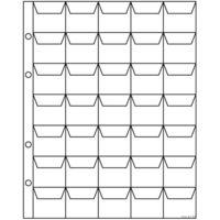 Лист для монет формата оптима на 48  ячеек 200*250 мм (СомС)