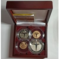 Грюнвальдская битва. 600 лет, золото, подарочный набор из 4-х монет в футляре