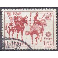 Дания Европа-Септ лошади  флаг всадники