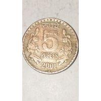 Индия 5 рупии 2001