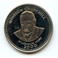 Сомали 25 шиллингов 2000 г. KM#70 (Уинстон Черчилль)
