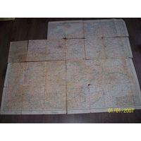 Карта немецкая 1944 года