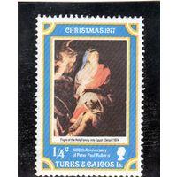 Тёркс и Кайкос Острова. Рождество. 1977.