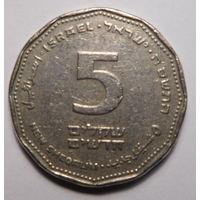 Израиль. 5 новых шекелей 2005г.