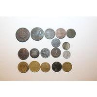 Монетки 17 штук, в основном РИ и до реформа.