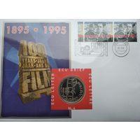 Нидерланды 1 ЭКЮ 1995, Конверт с маркой первый день гашения #4