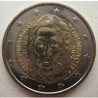 Словакия 2 евро 2015 г. 200 лет со дня рождения Людовита Штура