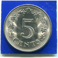 Мальта 5 центов 1972
