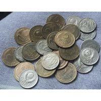 Сборный лот : 15 пятаков, 15 никеля. 1930-1957 гг.