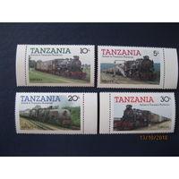 Марки Танзания 1985 год. Паровозы