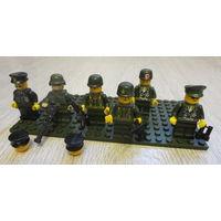 Лего. Brick. Cobi и др...человечки - солдатики + запасные детали...