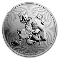 Ниуе 2018 Скрудж МакДак 2-я монета серии Disney серебро 999 1 унция