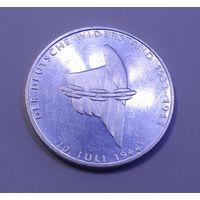 """ФРГ, 10 марок 1989 год, """"50 лет с момента покушения на Адольфа Гитлера (Серебро 0.625, 15.5г)"""""""