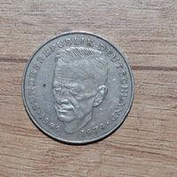 2 марки 1989F Германия КМ# 170 медно-никелевый сплав