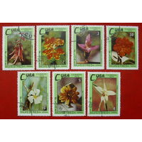 Куба. Цветы. ( 7 марок ) 1973 года.