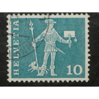 Швейцария 1960 стандарт Посланник Швиц марка