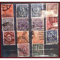 К.Ц.36 Евро ~ Deutsches Reich Dienstmarken ~ N. 20.21.25-30.32.33a.66a.67 -70