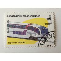 Мадагаскар 1993. Локомотивы. Поезда
