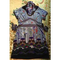 Платье с совами 46-48 Покупали в Барселоне НОВОЕ