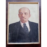 "Картина ""Ленин"", СССР, 50-е. холст масло. 83х63см."