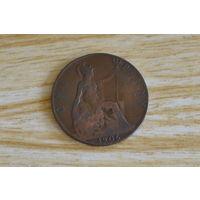 Великобритания 1 пенни 1906