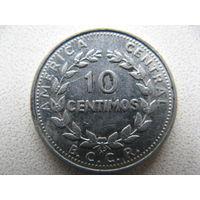 Коста-Рика 10 сентимо 1982 г.