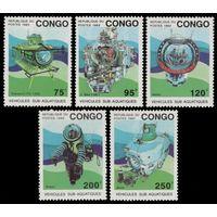 1993 Конго Браззавиль 1371-1375 исследовательские подводные лодки 15,00евро