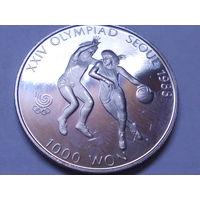Южная Корея 1000 вон 1987 Олимпийские игры в Сеуле - Баскетбол.