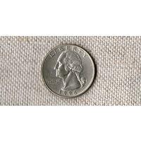 США 25 центов 1996 D //(Ок)