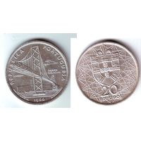 Португалия. 20 эскудо 1966 г.( серебро). Цена снижена !