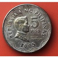02-20 Филиппины, 5 писо 2005 г.