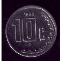 10 центов 1993 год Мексика