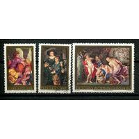 Лихтенштейн - 1976 - Картины Рубенса - (на клее есть желтые пятна) - [Mi. 655-657] - полная серия - 3 марки. MNH, Гашеные.  (Лот 63N)