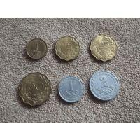 Парагвай набор 6 монет 1938-1953